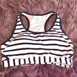 Athleta super cute blue & white striped sports bra